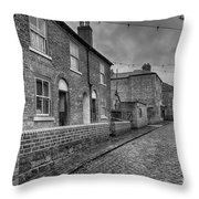 Victorian Street Throw Pillow