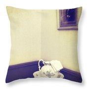 Victorian Wash Basin And Jug Throw Pillow by Amanda Elwell