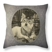 Victorian Westie Throw Pillow