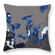 Victoriano Huerta Emilio Madero And Pancho Villa On The Right Ciudad Chihuahua May 1912-2014 Throw Pillow