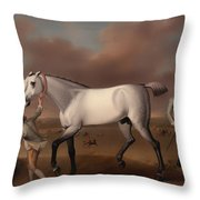 Victorious At Newmarket Throw Pillow