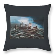Victory At Gibraltar Throw Pillow