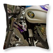 Victory Motorcycle Engine Throw Pillow