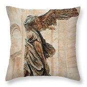 Victory Of Samothrace Throw Pillow by Joey Agbayani