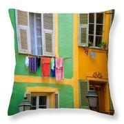 Vieille Ville Windows Throw Pillow