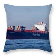 Vienna Express Ship Throw Pillow