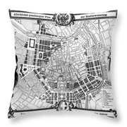 Vienna: Plan, 1860 Throw Pillow