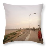Vientiane Laos Throw Pillow
