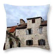 Vies Of Split Croatia Throw Pillow