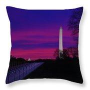 Vietnam Memorial Sunrise Throw Pillow