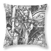 Vietnam Soldier Throw Pillow