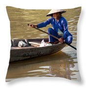 Vietnamese Boatwoman 01 Throw Pillow
