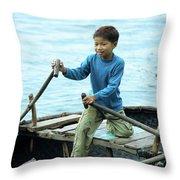 Vietnamese Boy Throw Pillow
