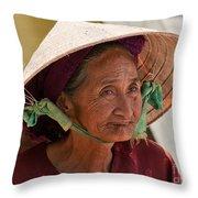 Vietnamese Lady Throw Pillow