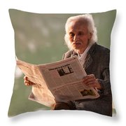 Vietnamese Man Throw Pillow by Rick Piper Photography