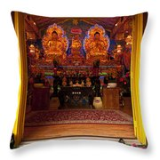 Vietnamese Temple Shrine Throw Pillow