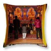 Vietnamese Temple Shrine Prayer Throw Pillow