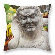 Vietnamese Temple Statue Throw Pillow