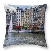 Vieux Bassin Of Honfleur Throw Pillow