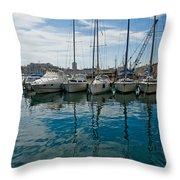 Vieux Port Throw Pillow