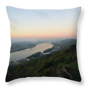 View - East Walnut Hills Throw Pillow