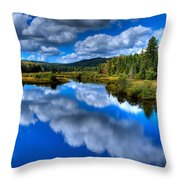 View At The Green Bridge - Old Forge New York Throw Pillow