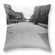 View East On 78th Street Throw Pillow