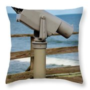 View Finder At The Beach Throw Pillow