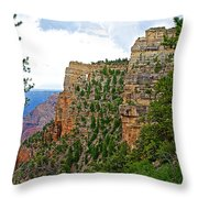 View Four From Walhalla Overlook On North Rim Of Grand Canyon-arizona Throw Pillow