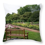 View From A Bench Throw Pillow