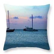 View From A Catamaran3 - Aruba Throw Pillow