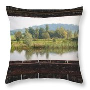 View From A Hide Impressions Throw Pillow