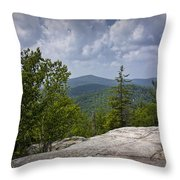 View From A Mountain In A Vermont Throw Pillow
