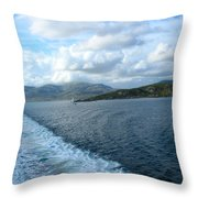 View From A Scottish Ferry Throw Pillow