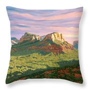 View From Airport Mesa - Sedona Throw Pillow