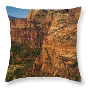 View From Angel's Landing 2 Throw Pillow