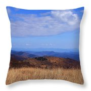 View From Black Balsam Knob Throw Pillow