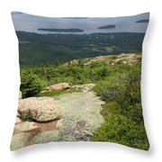 View From Cadillac Mountain - Acadia Park Throw Pillow