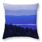 View From Cadillac Mountain Throw Pillow by Diane Diederich