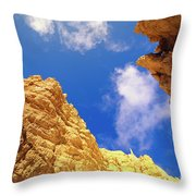 View From Of Bryce Canyon Throw Pillow by Yva Momatiuk John Eastcott