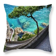 View From Capri.italy Throw Pillow