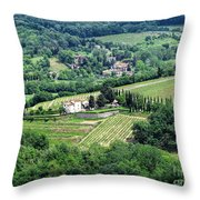 View From Castello Vicchiomaggio Throw Pillow