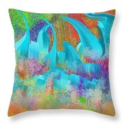 View From Central Park Abstract Painting Throw Pillow
