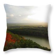 View From Chauncey Peak Throw Pillow by Stephen Melcher