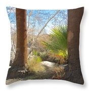 View From Creek Bed In Andreas Canyon In Indian Canyons-ca Throw Pillow