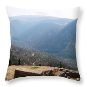 View From Delphi 2 Throw Pillow