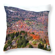 View From Devil's Courthouse 3 Throw Pillow