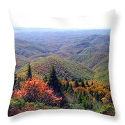 View From Devil's Courthouse Mountain Throw Pillow