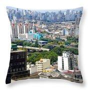 View From Edificio Martinelli 2 - Sao Paulo Throw Pillow