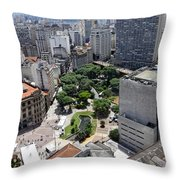 View From Edificio Martinelli 3 - Sao Pulo Throw Pillow